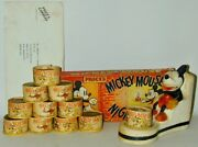 Mickey Mouse Seated Candle Holder + Full Original Box 10 Candles Priceand039s Uk 1934