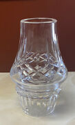 Waterford Crystal 2 Pc Lismore Hurricane Fairy Lamp Signed