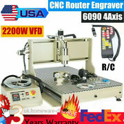 4 Axis Usb 6040 Cnc Router Engraving Drillingandmilling Machine 2.2kw + Controller