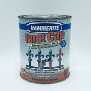 Hammerite Rust Cap Silver Gray Quart Paint And Primer Hammered Finish 43105 New