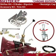 Th200 Shifter Kit 10andampquot E Brake Cable Clevis Trim Kit Dipstick For D8422
