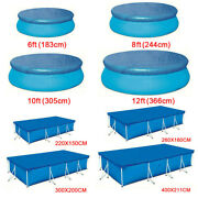 Round Swimming Pool Cover For Outdoor Garden Paddling Family Pools Rectangle