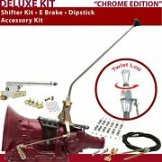 518 Shifter Kit 23andampquot E Brake Cable Clamp Dipstick For D020d