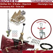 C6 Shifter Kit 6andampquot E Brake Cable Clamp Clevis Trim Kit Dipstick For C7f7