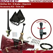 Aod Shifter Kit 6andampquot E Brake Cable Clamp Clevis Trim Kit Dipstick For C83