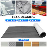 106and039and039 94and039and039 5.5mm 6mm Eva Foam Boat Flooring Sheet Teak Decking Marine Carpet Mat