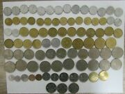 Lot Of 87 Different Obsolete Israel Coins - 1960 To 1984 - Circulated