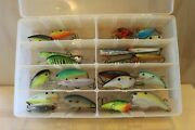 Box Q Lot Of 25 Assorted Fishing Lures Crankbaits Baits Tackle Bass Tournament