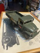 Vintage Rare Haji Army Friction Truck Missing Canopy