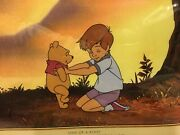 Disney Tv Original Production Cel Of Christopher Robin And Winnie The Pooh