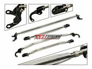 Strut Tower Tie Arm Bars Brace Upper + Lower 4 Pieces For 93-97 Civic Del Sol