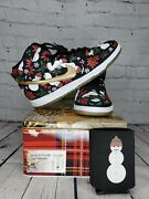 Size 12 - Nike Dunk Sb High Concepts Ugly Christmas Sweater Andndash Black Ds
