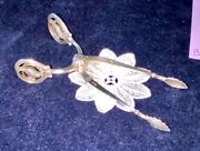 Early⚜️1919-25⚜️georg Jensen Sterling Silver Blossom/magnolie Sugar Tongs By Gj.
