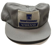 Vintage Whitegmc Volvo Patch Snapback Trucker Hat Swingster Made In Usa
