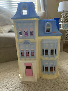 Fisher Price Loving Family Sweet Sounds Dollhouse Victorian Mansion Blue Roof