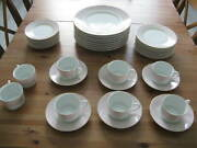 6 Place Settings Of Raynaud Limoges Crinoline Pink Plus Extras 36 Pieces