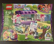 Lego Friends 41332 Emmaand039s Art Stand New Scooter Cat - New Sealed
