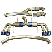 Dual Titanium Full 3 Exhaust System For Nissan Gtr R35 Vr38 2008-2018 And Nismo