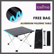 Portable Camping Aluminum Table Outdoor Picnic Lightweight Folding Hiking Desk