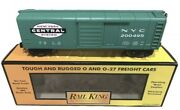 ✅mth Railking New York Central Rounded Roof 40andrsquo Box Car 30-7447 Nyc Penn O Gauge