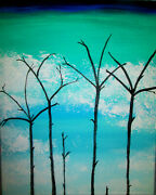 Still Life Forest Fire Woods Painting By West Davis Acrylic 20 New From Gallery