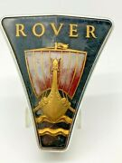 Vintage Rover P6 1970 3500s England Front Grill Viking Ship Insignia Badge