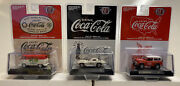 M2 Machines Coca Cola Release A08 1/64 Complete Set Of 3 Cars