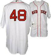 Pablo Sandoval Boston Red Sox Game-used 48 Jersey V Ny Yankees On July 11 2015