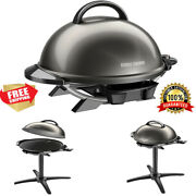 Electric Grill Serving 15+ Indoor Outdoor Portable Barbecue Cooking Metal New