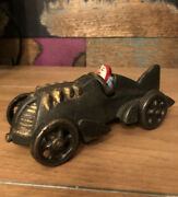 Hubley Antique Reproduction Iron Art Racecar Moveable Wheels