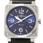 Bell And Ross Blue Steel Br03-92 Menand039s Bell And Ross Watch Automatic Guarantee