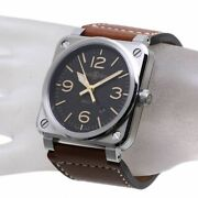 Bell And Ross Golden Heritage Br0392-st-g-he/sca Br03-92 Self-winding Leather