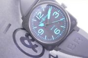 Bell And Ross Aviation Date Br03-92 Blue Self-winding Rubber Diver Bell And Ross