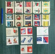 Vintage Set Of Matchboxes Italy 17 Pcs. Old Matches Boxes Fiammiferi Collection
