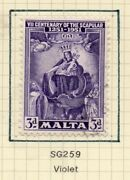 Malta 1951 Early Issue Fine Used 3d. Nw-157103