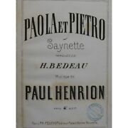 Henrion Paul Paola And Pietro Singer Piano Ca1870 Sheet Music Score