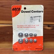 Nos / Vintage Arco Dowel Centers - 1/4 5/16 3/8 1/2 - Made In Usa