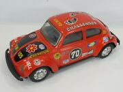 Vintage Taiyo Toys Tin Vw Volkswagen Rally Car 10 For Parts Or Restoration