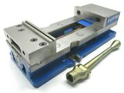 Nice Kurt Anglock Crossover 6 Milling Machine Vise W/ Jaws And Handle - Dx6