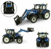 Model Tractor Diecast New Holland T6.175 770tl Front Loader Scale 13 2