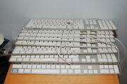 Lot Of 9 Genuine Apple A1243 Wired Usb Keyboard White Aluminum Mb110ll/a Parts