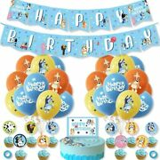Bluey Theme Birthday Party Supplies Decorations Set Include Latex Balloons Usa