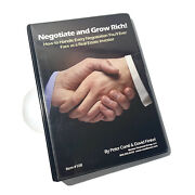 Negotiate And Grow Rich Real Estate Investing Dvds Cds Program Peter Conti Finkel