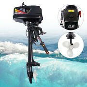 Two Stroke 3.6hp Outboard Motor Boat Engine Heavy Duty W/water Cooling System Us