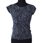 Cc Logos Short Sleeve Tops Navy 38 06p Vintage Authentic Y03324h