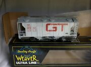 Weaver 3-rail Grand Trunk Western Ps-2 Covered Hopper Car W/ Lionel Type Coupler