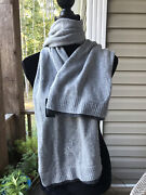 """Nwt Gray """"lrl"""" Monogrammed Scarf. New"""