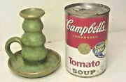 Cole Pottery Seagrove Nc Pottery Frog Skin 4 Finger Loop Candlestick 1960s