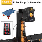New S6-pro Automatic Table Tennis Robot Ping Pong Ball Train Machine And Catch Net