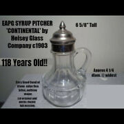 Eapg Heisey Glass Continental Syrup Pitcher C1903